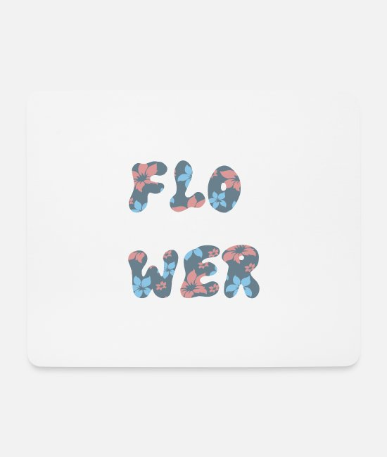 Blume Mouse Pads - Flower flower - Mouse Pad white