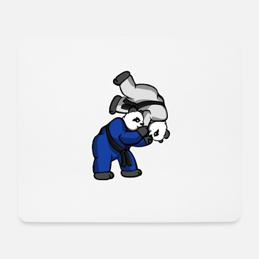 Jiujitsu Panda Hip Throw - BJJ JiuJitsu MMA Shirt - Mousepad (bredformat)