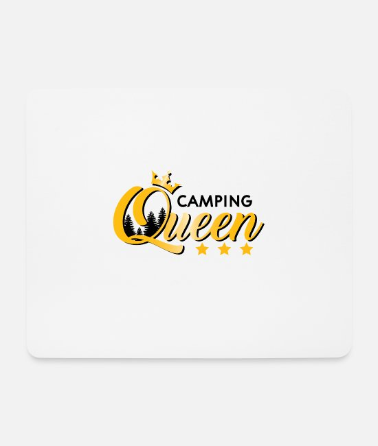 Camping Mouse Pads - Camper queen forest gift gift idea sports - Mouse Pad white