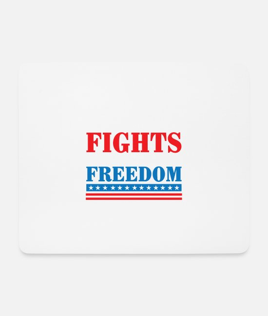 Army Mouse Pads - My best friend fights for your freedom - Mouse Pad white