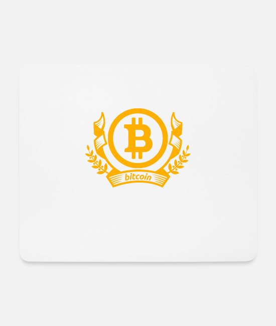 Geographic Mouse Pads - Bitcoin emblem - Mouse Pad white