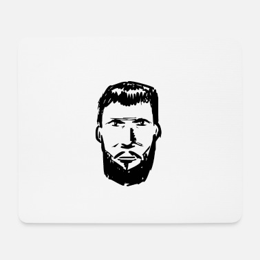 Bearded Bearded bearded man bearded bearded art - Mouse Pad