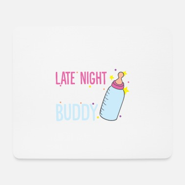 Vial Baby milk drinking team out of the vial - Mouse Pad