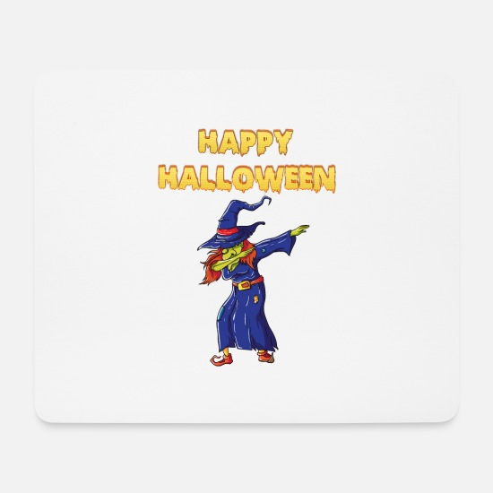 Happy Christmas Tapis de souris  - Happy Halloween Dabbing Witch - Tapis de souris blanc