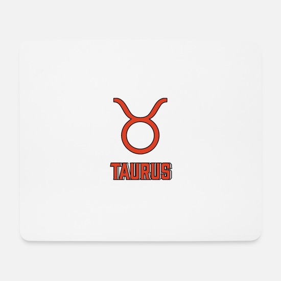 Birthday Mouse Pads - Birthday star sign Taurus - Mouse Pad white
