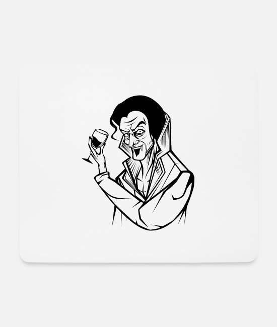 Count (royal) Mouse Pads - vampire - Mouse Pad white