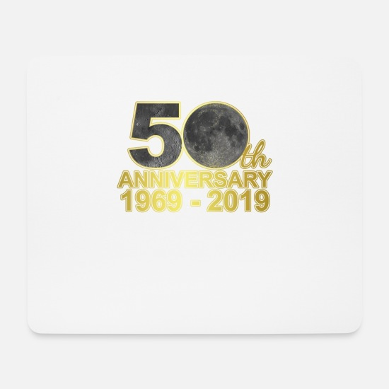Landing Mouse Pads - Moon landing 50th anniversary moon 50 years gift - Mouse Pad white