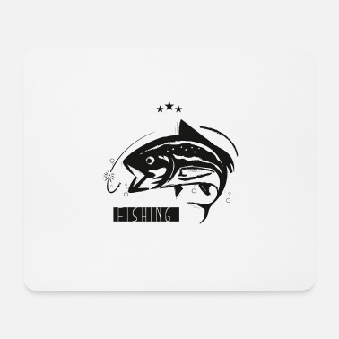 Sport Fishermen Fish in the water // for passionate fishermen - Mouse Pad
