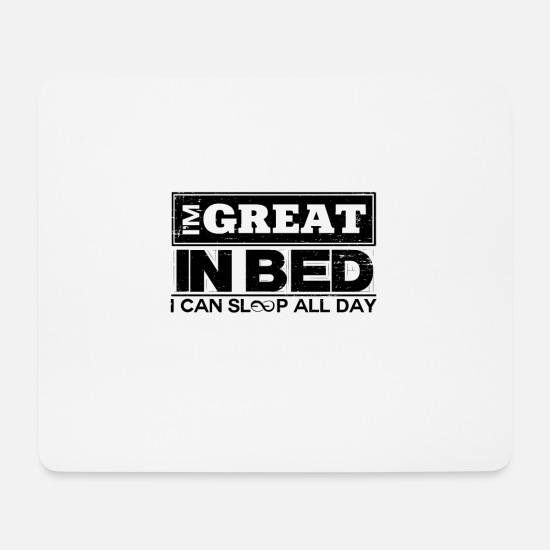 Sleeping Mouse Pads - Sleep - Mouse Pad white