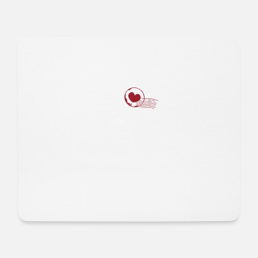 Stamp Collecting Cute I Heart Stamp Collection - Mouse Pad