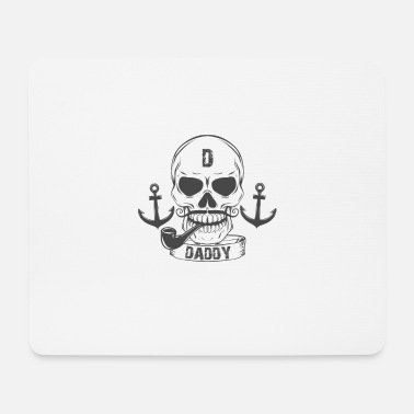Divertente Pirata T T-shirt divertente PIRATE DAD | Daddy Skull Captain Tee - Tappetino mouse