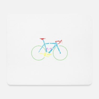 Glass Underwear Bicycle anatomy for bike and cycling lovers - Mouse Pad
