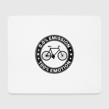 0% Emisión 100% Emotion Funny Bicycle Shirt - Alfombrilla de ratón (horizontal)
