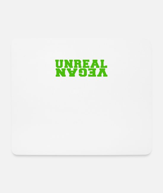 Backwards Mouse Pads - Unreal vegan green - Mouse Pad white