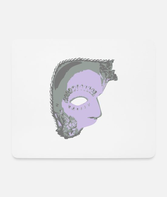 Carnival Mouse Pads - Venetian mask - Mouse Pad white