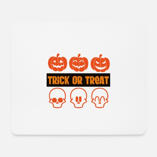 Witching Hour Mouse Pads - Trick or Treat - Mouse Pad white