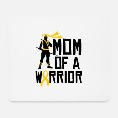 Childhood Cancer Awareness Childhood Cancer Awareness Mom Support Gold Ribbon - Mouse Pad