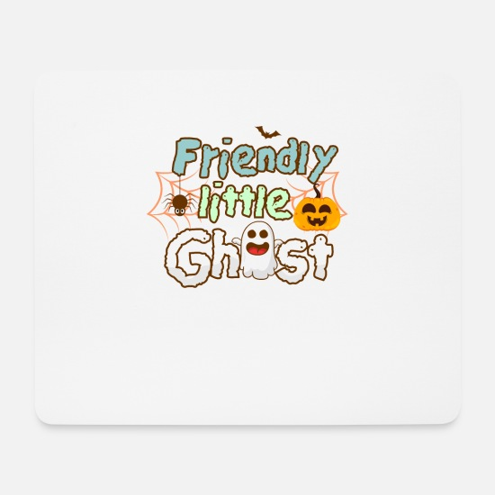 Geschenk Mousepads  - Halloween Little Ghost - Mousepad Weiß