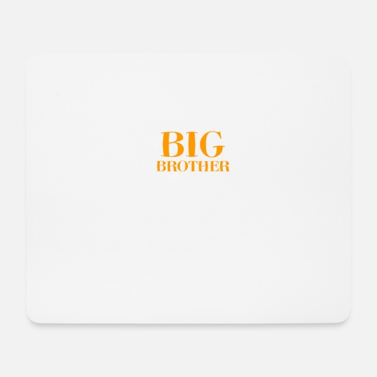 Birthday Mouse Pads - Big brother birth sibling gift - Mouse Pad white