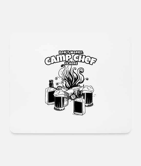 Friends Mouse Pads - Camp Chef Gift for Summer Campsite Cooks and - Mouse Pad white
