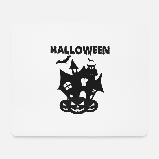 Gift Idea Mouse Pads - Halloween Castle - Mouse Pad white