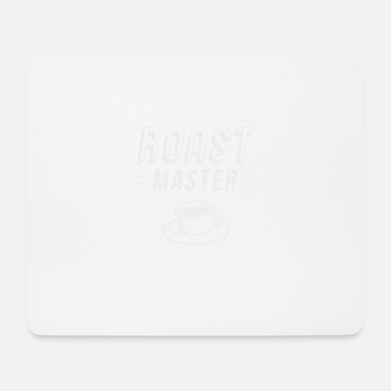 Coffee Bean Mouse Pads - Cool Roast Master Coffee Gift - Mouse Pad white