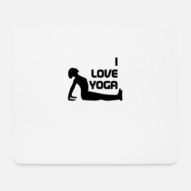 Asceticism I love yoga, perfect gift - Mouse Pad