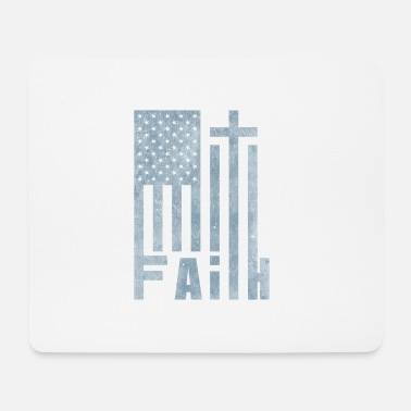 Freak America Flag Cross Faith | Dono del cristianesimo - Tappetino per mouse (orizzontale)