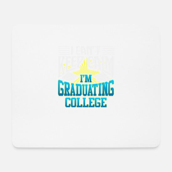 Uni Mouse Pads - College graduation diploma university gift - Mouse Pad white