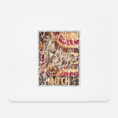 Rups Retro Moth Poster Distressed Look - Muismatje (landscape)