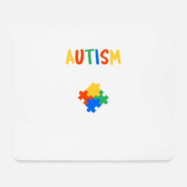 Autism Month Cute Autism Awareness Colorful - Mouse Pad