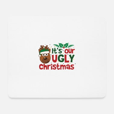 Ugly Christmas Saying With Reindeer Water Bottle Spreadshirt