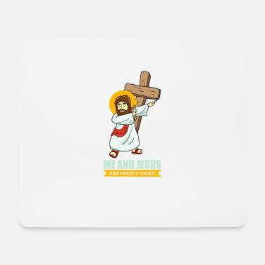 Christian Jesus Dabbing Faith funny picture Christian cool - Mouse Pad