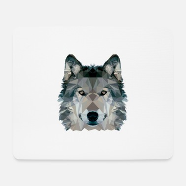 Clip Art Wolf Face Low Poly Design, Clip art de Wolf Face - Alfombrilla de ratón (horizontal)
