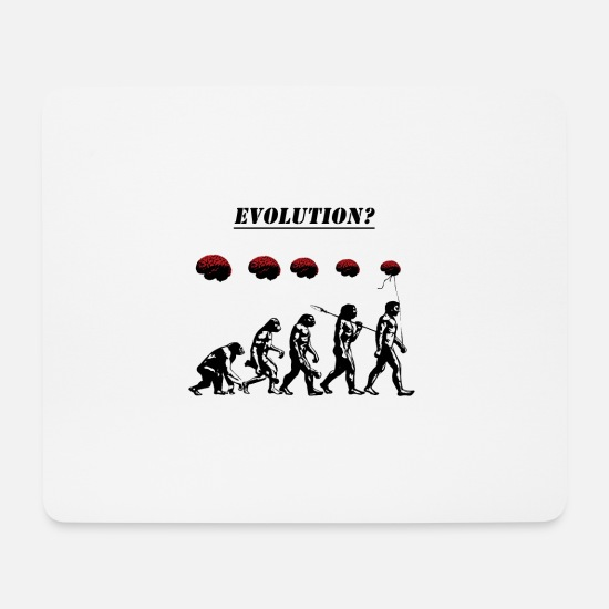 Stencil Mouse Pads - Evolution? - Mouse Pad white