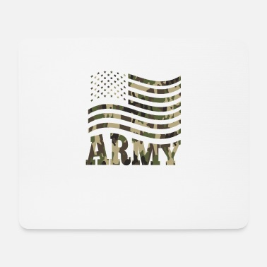 Infantry US Army flag infantry ranger camouflage military - Mouse Pad