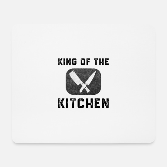 Gift Idea Mouse Pads - King kitchen chef saying chef kitchen knife gift - Mouse Pad white