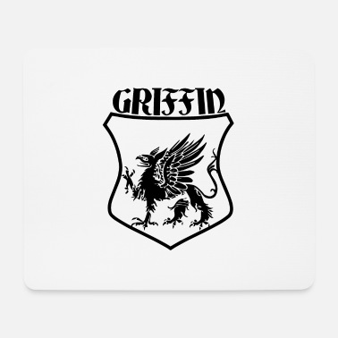 Shield Griffin Name Shield Mythical Eagle Lion - Tapis de souris (format paysage)