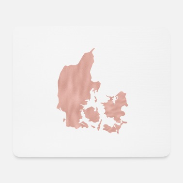 Shilouette Denmark maps Shilouette in pink map - Mouse Pad