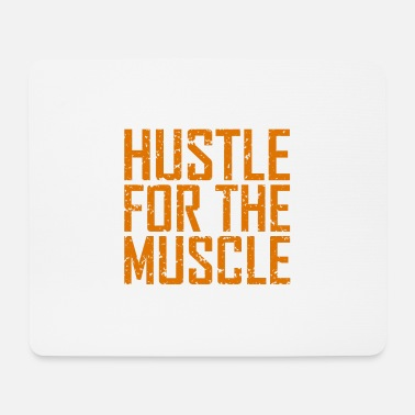 Training Fitness Hustle Muscle - Tappetino per mouse (orizzontale)
