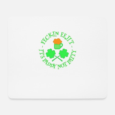Eejit St Patrick's Day Feckin Eejit Beer and Shamrocks - Mouse Pad