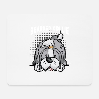 Rude Barde Colley Border Collie Rude Collie Sheltie - Tapis de souris (format paysage)