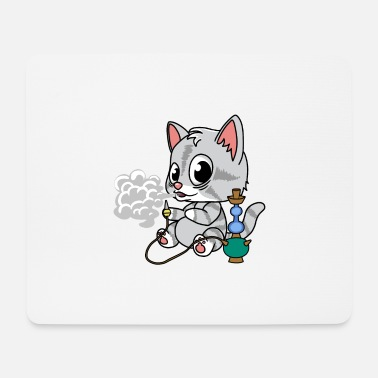 Tekening Little Cat with Shisha Fantasy Comic Lifestyle. - Muismatje (landscape)
