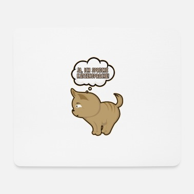 Cat Yes, I speak cat language! Funny cats - Mouse Pad