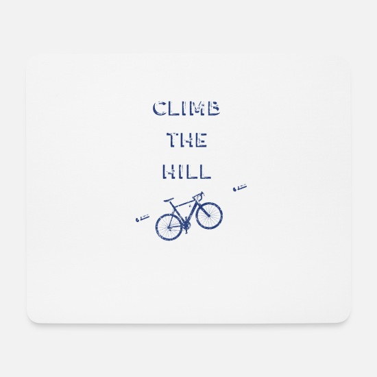 Triathlon Mouse Pads - Road Bike Bicycle Road Cyclist Gift Mountain Tour - Mouse Pad white