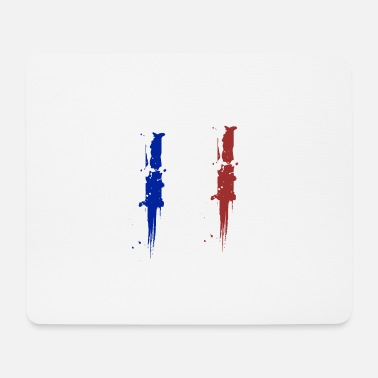France Flag France Fan Paris Eiffel Tower Merci - Mouse Pad