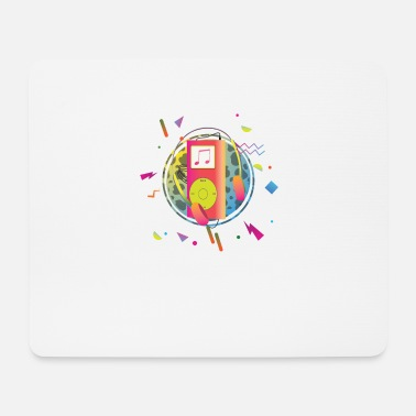 Mp3 Colorful Vintage MP3 Player Illustration - Mouse Pad