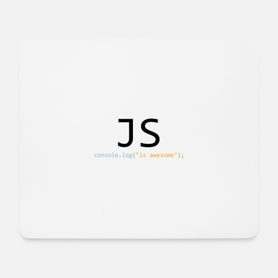 Code Tapis de souris  - JavaScript is awesome - Tapis de souris blanc