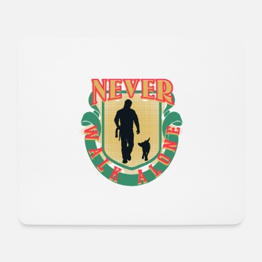 Dogwalking Dogwalker Dogs Never Walk Alone Gift - Mouse Pad