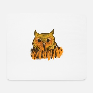 Owl Spirit Animal: Stark Owl Nightworm Gift Shirt - Mouse Pad